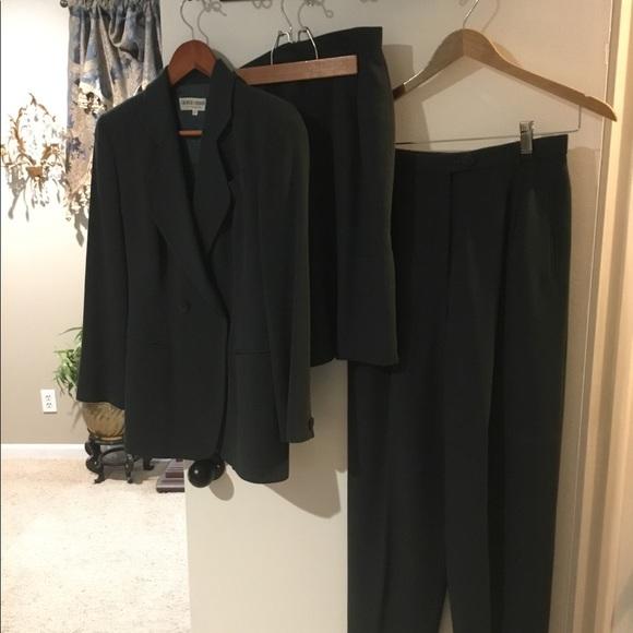 Green Giorgio Armani 3 Pieces Designer Suit